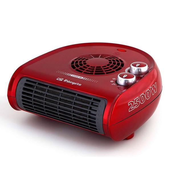 Orbegozo fh 5033 rojo calefactor horizontal 2500w de potencia 2 posiciones de calor y función ventilador
