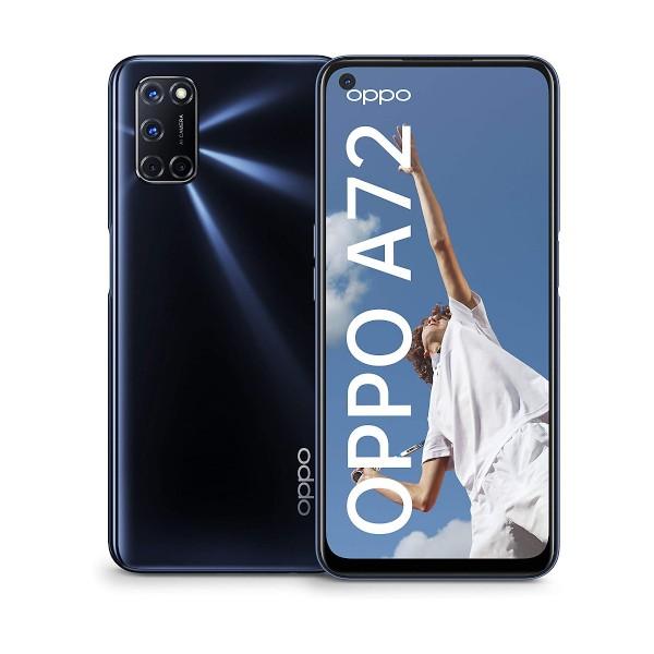 Oppo a72 twilight black móvil 4g dual sim 6.5'' fhd+/8core/128gb/4gb ram/48+8+2+2mp/16mp