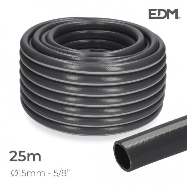 "Manguera jardin ecolight ø inter.15mm, ø exter.  20mm (5/8"") rollo 25m edm"