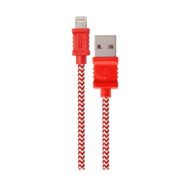 Dcu cable rojo y blanco usb a lightning 1 metro macho/macho