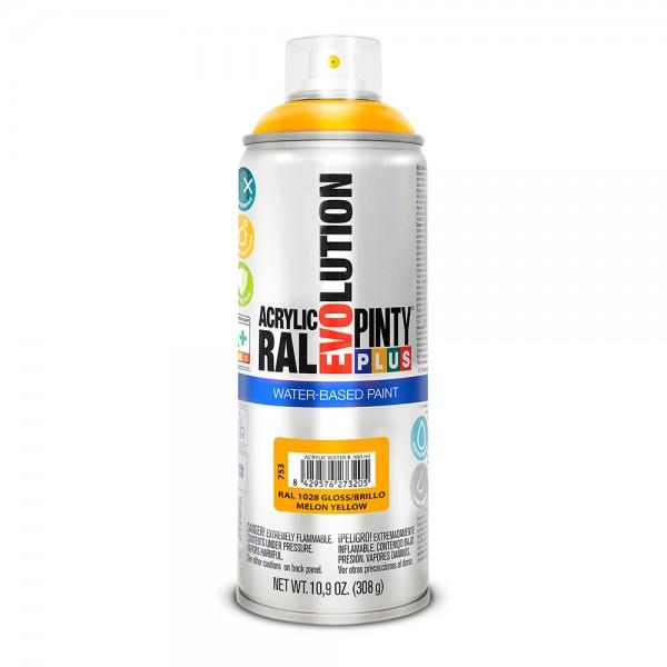 Pintura en spray pintyplus evolution water-based 520cc ral 1028 amarillo melón